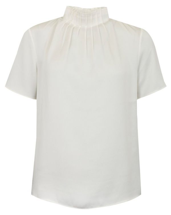Pleat Neck Top
