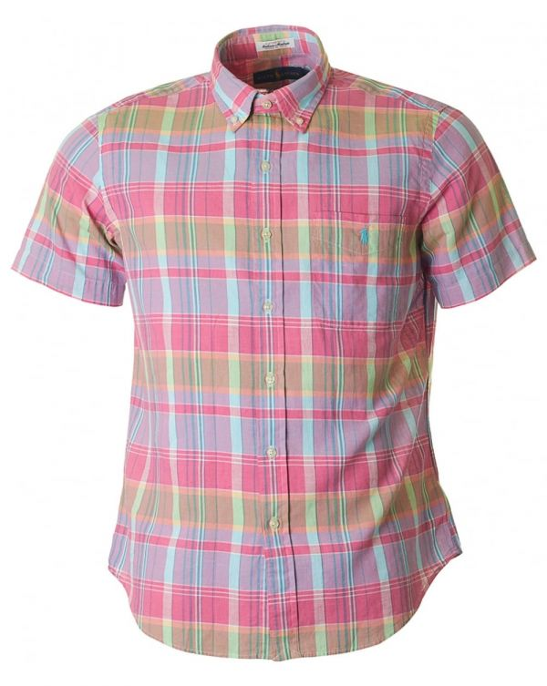 Custom Fit Madras Multi Check Shirt