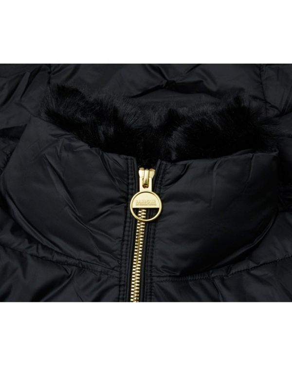 Nurburg Faux Fur Collar Quilted Jacket