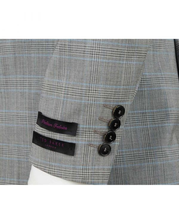 Waspn Pow Checked Peak Lapel Suit