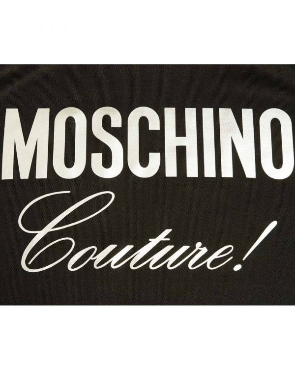 Moschino Couture Silver Logo Sweater