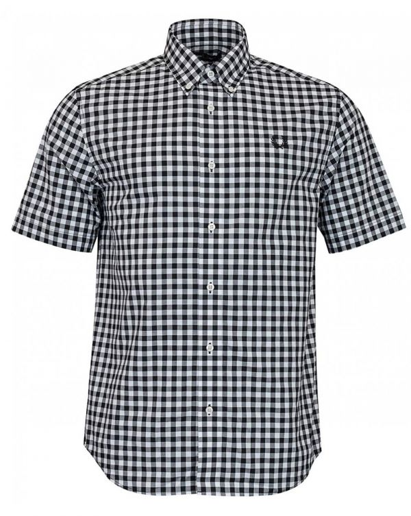 Two Colour Gingham Check Shirt