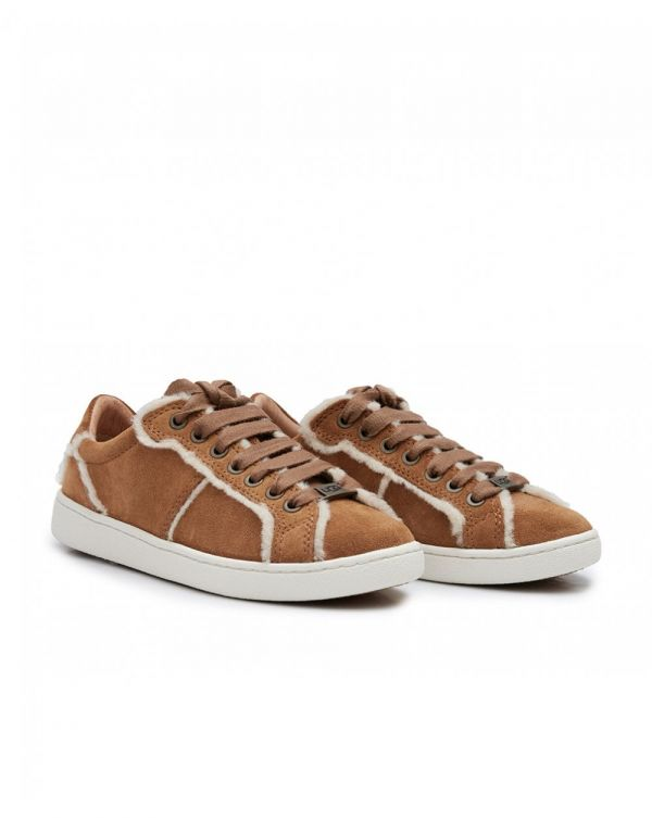 Milo Spill Seam Suede Lace Up Trainers