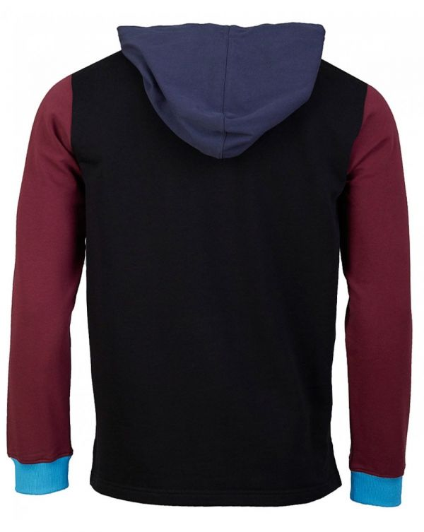 Long Sleeved Colour Block Polo Sweat