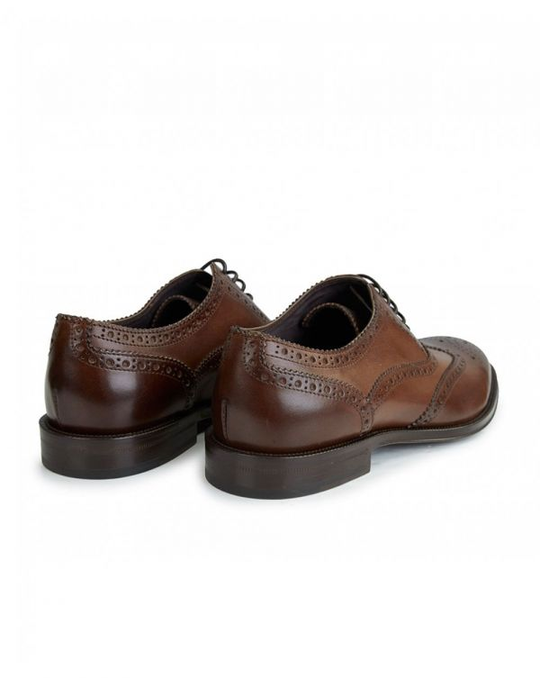 Leather 'munro' Flexible Travel Brogues