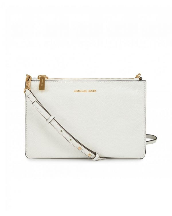 Double Pouch Leather Crossbody Bag