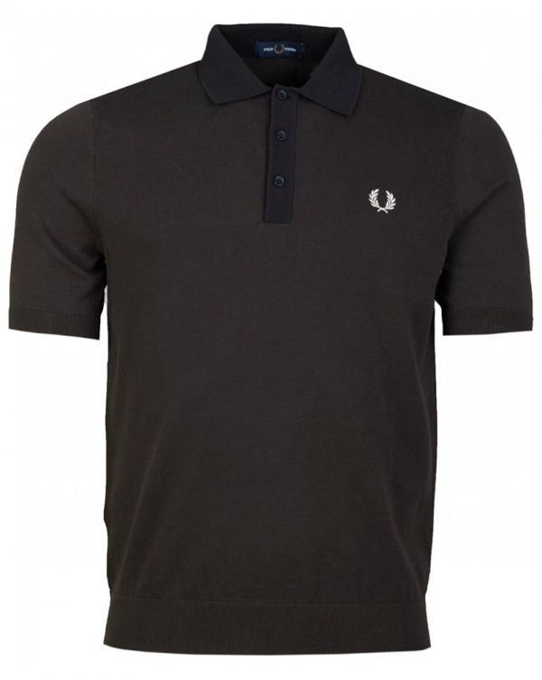 Tonal Knitted Polo Shirt