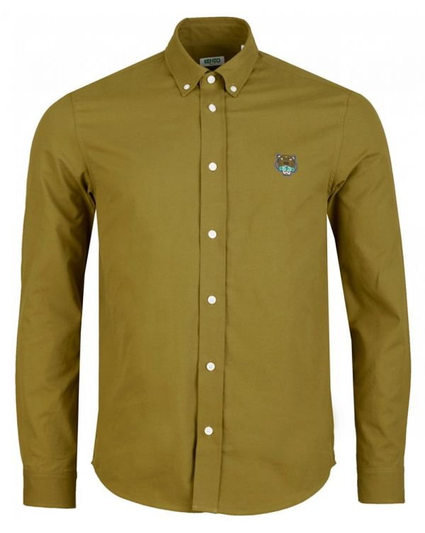Tiger Crest Casual Fit Twill Shirt