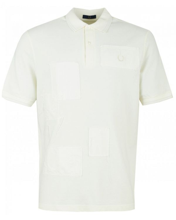 Contrast Stitch Patch Pique Polo