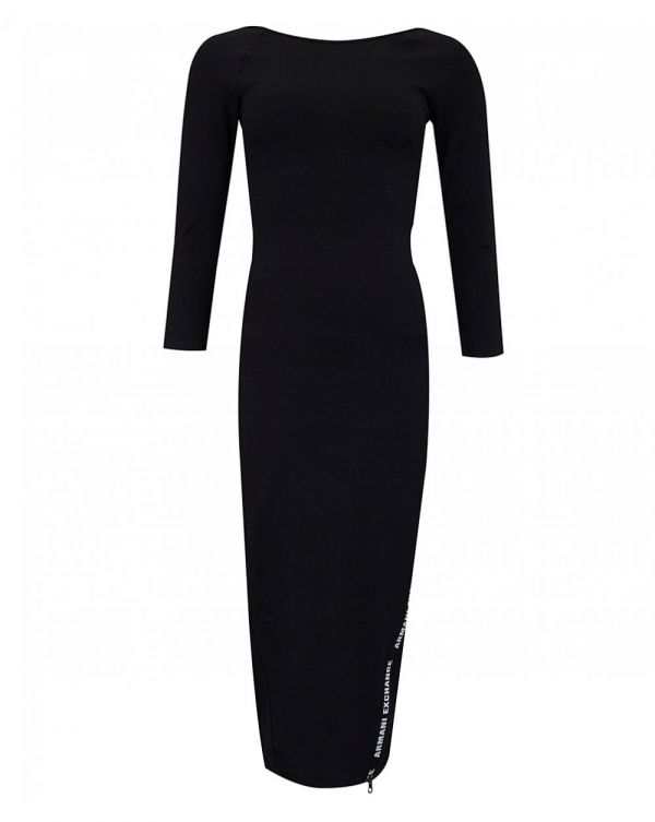 Tape Logo Long Sleeved Dress
