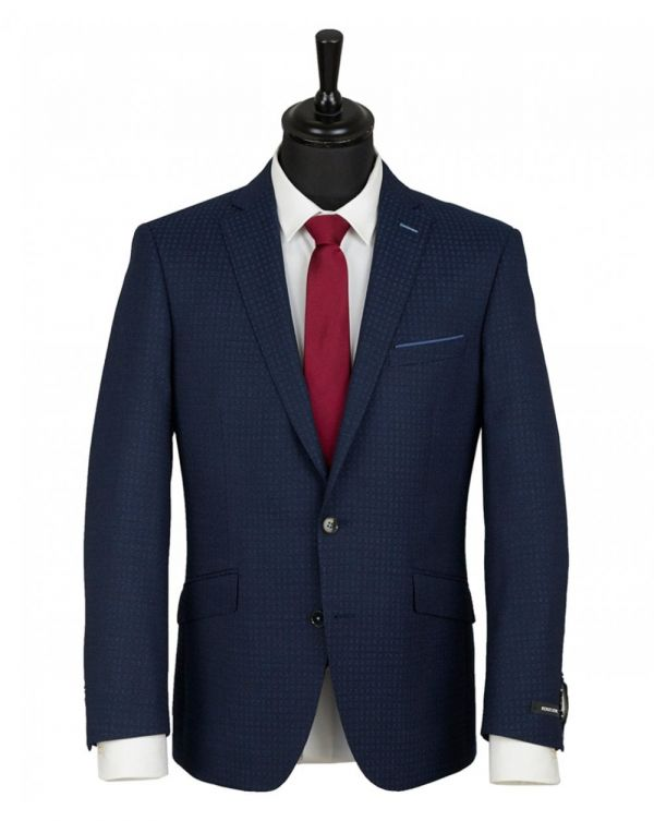 Tapered Fit Self Patterned Suit Jacket