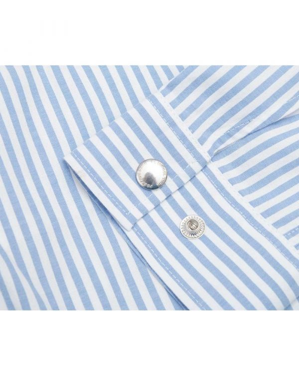 Striped Button Through Over Shirt
