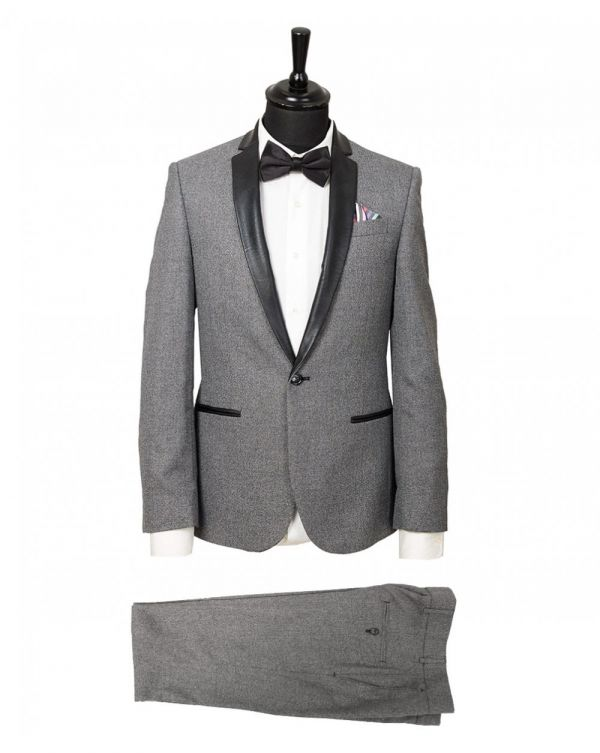 Contrast Collar Speckle Suit