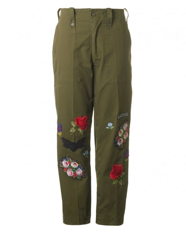 Floral Military Trousers