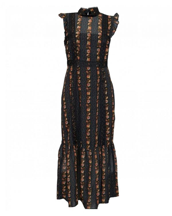 Hope And Ivy Midi Pencil Dress With Trims