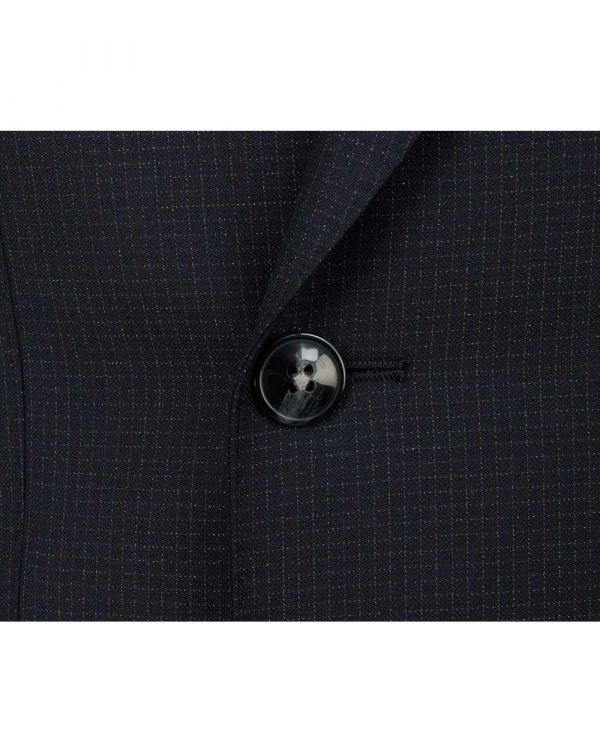 Slim Fit Double Breasted Puppytooth Suit