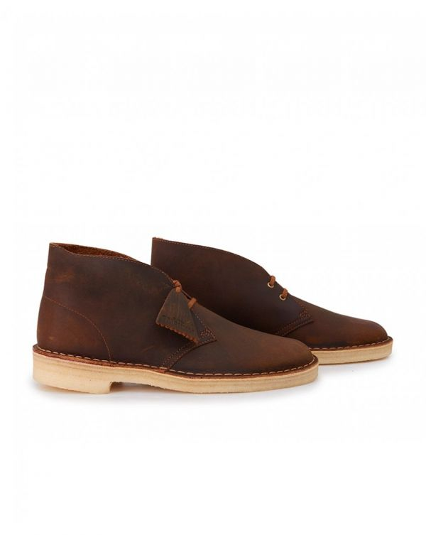 Beeswax Leather Desert Boots