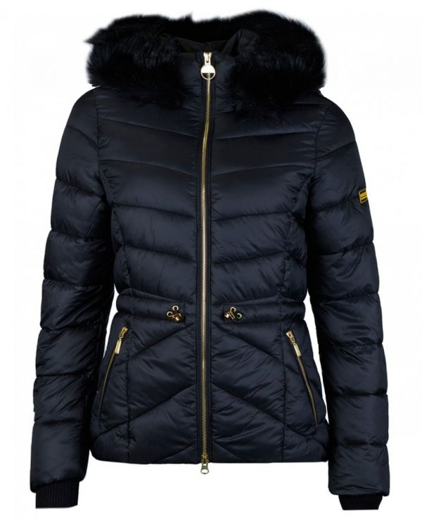 Island Draw In Waist Quilted Jacket
