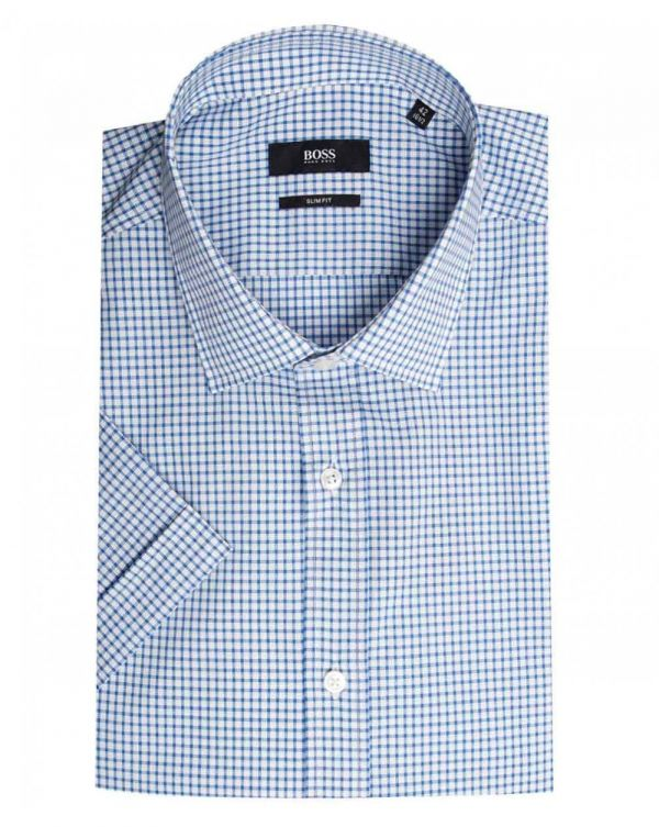 Jats Slim Fit Short Sleeved Check Shirt