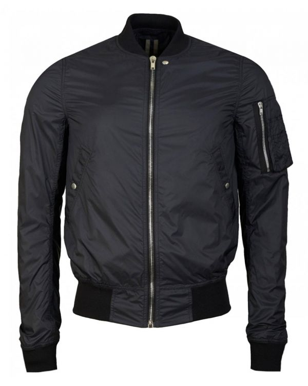 Nylon Flight Bomber Jacket
