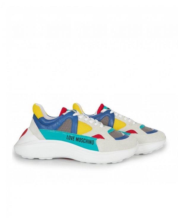 Chunky Colour Block Logo Trainers