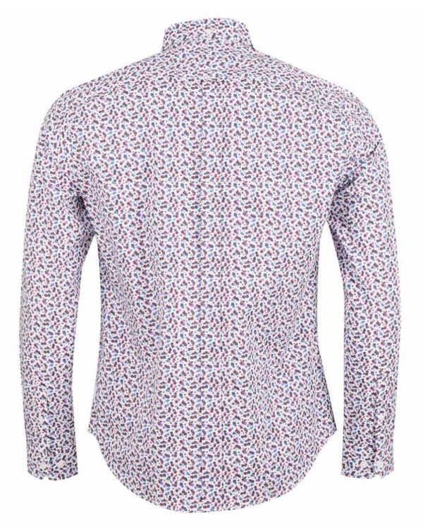 Ben Sherman White Floral Long Sleeved Shirt